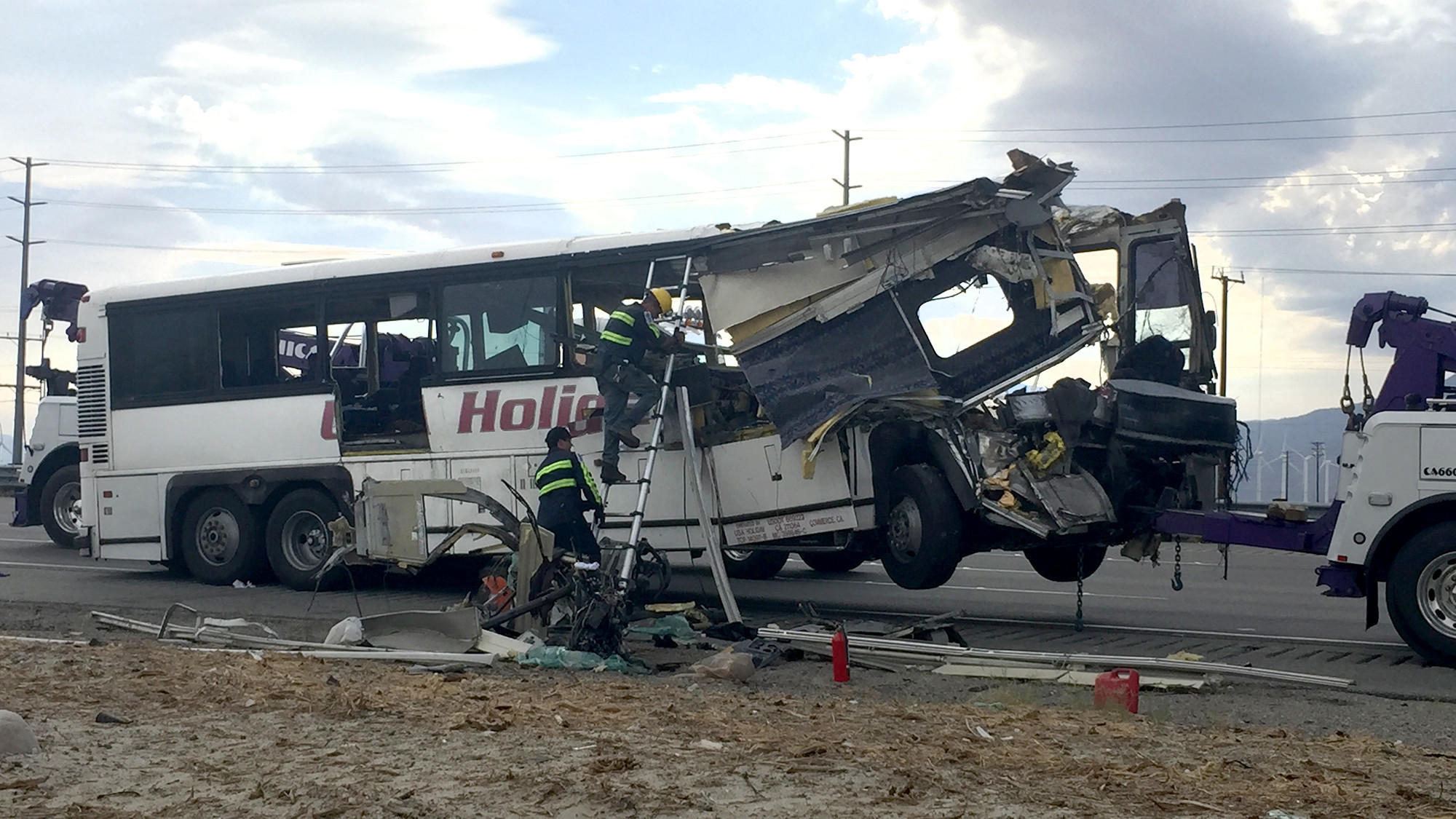 Live updates: 13 people killed in tour bus crash on 10