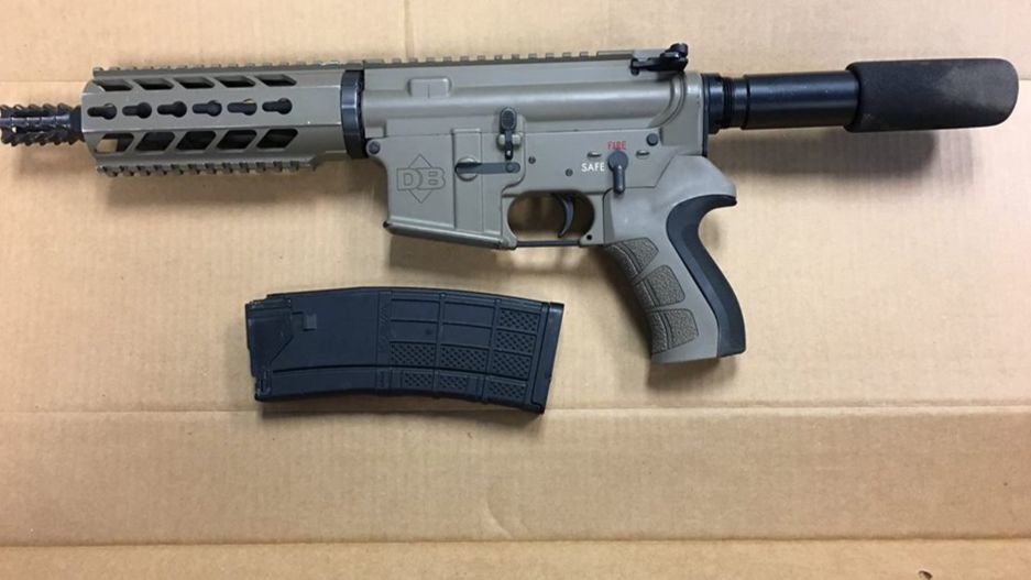Police recovered this weapon in the car used in the shooting in Madera.