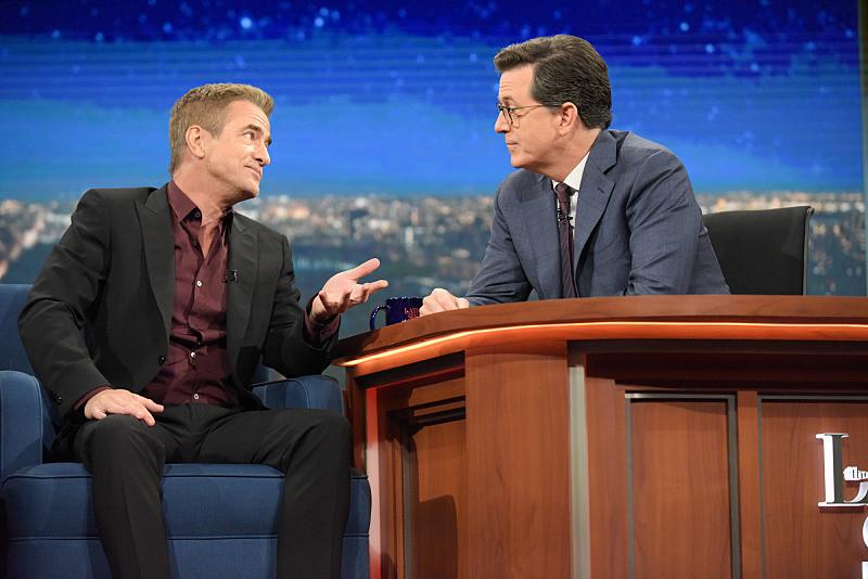 Stephen Colbert: Dermot Mulroney was too cool for me at Northwestern