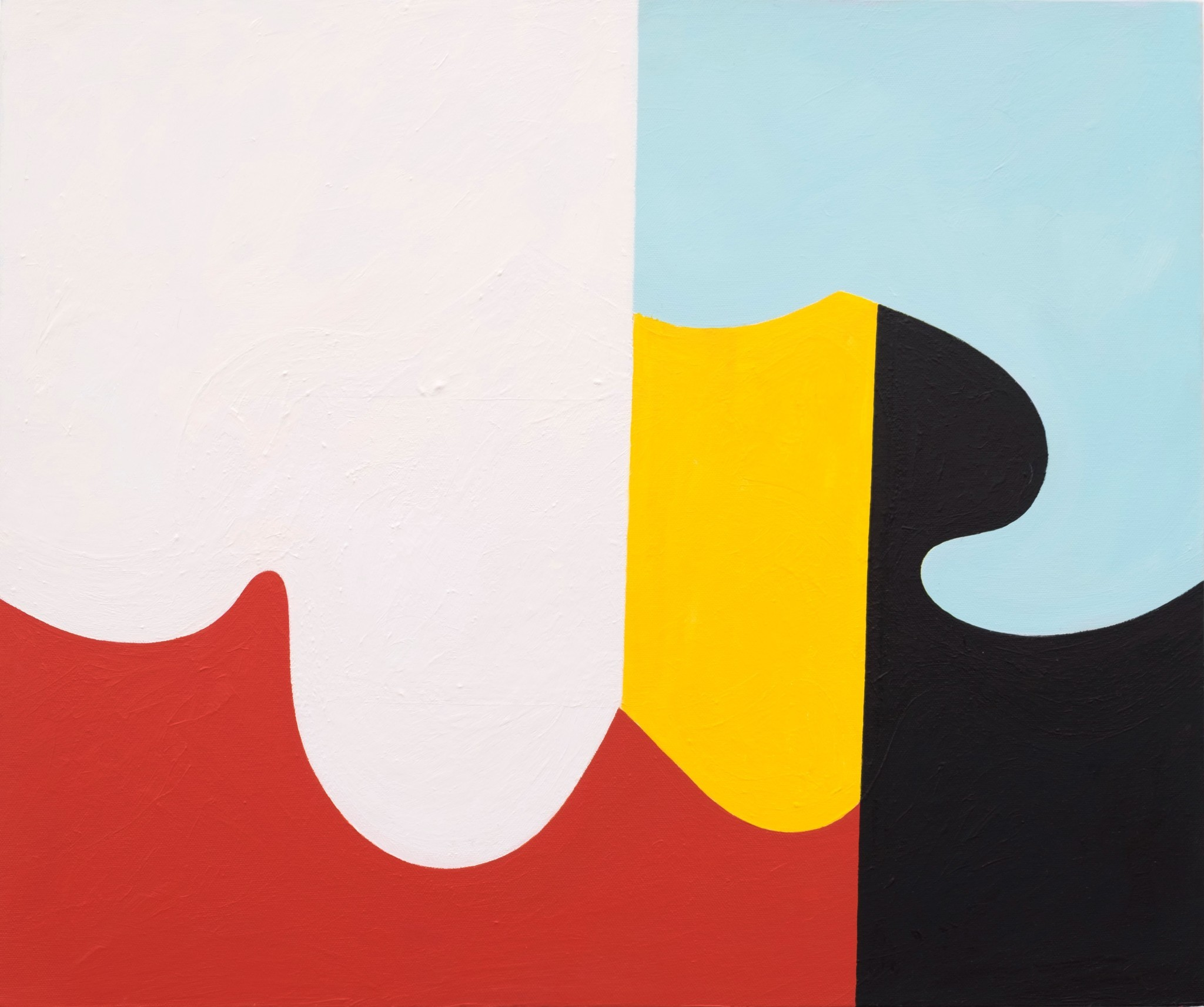 """Andrew Masullo's """"6034,"""" 2014-15, oil on canvas, 20 inches by 24 inches."""