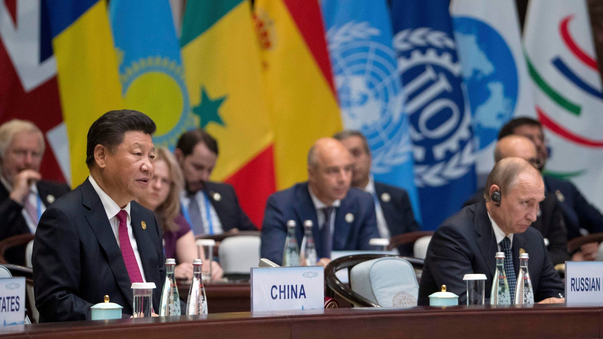 Along with the United States, Russia and China are major players in the world of cyber attacks. Here, Russian President Vladimir Putin listens as Chinese President Xi Jinping speaks during the G20 Summit in Hangzhou, China, on Sept. 4, 2016.