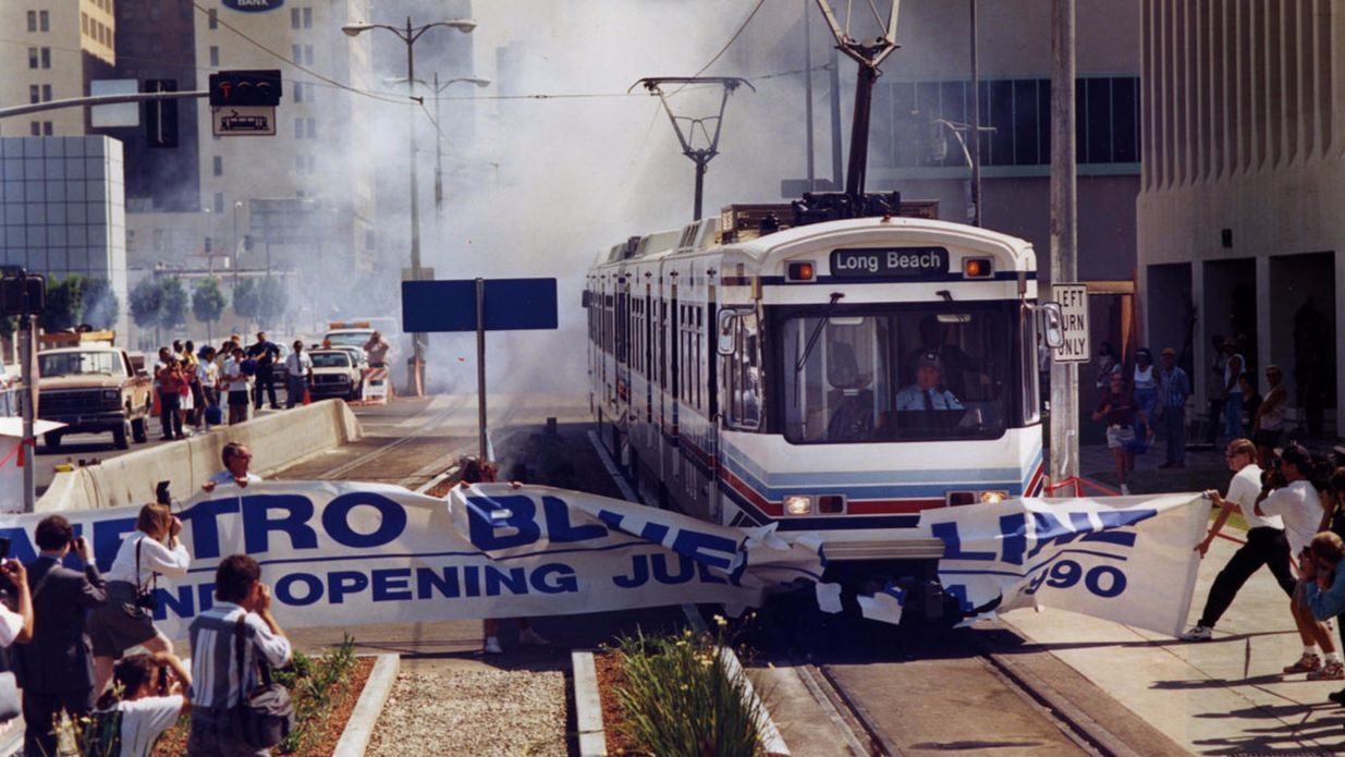 The Blue Line opens in 1990, ushering in the new era of trains in L.A.