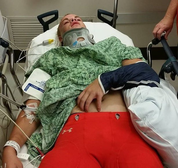 When Jacob Paape arrived at the hospital, doctors feared his broken collarbone might pierce a carotid artery.