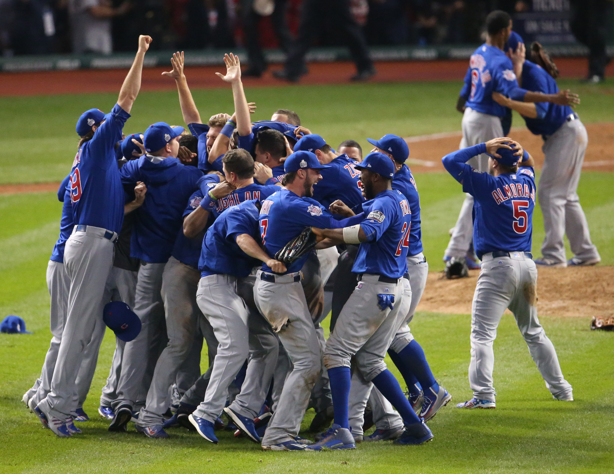 573fa1a88ec Holy cow! The Cubs are World Series champs! - Chicago Tribune