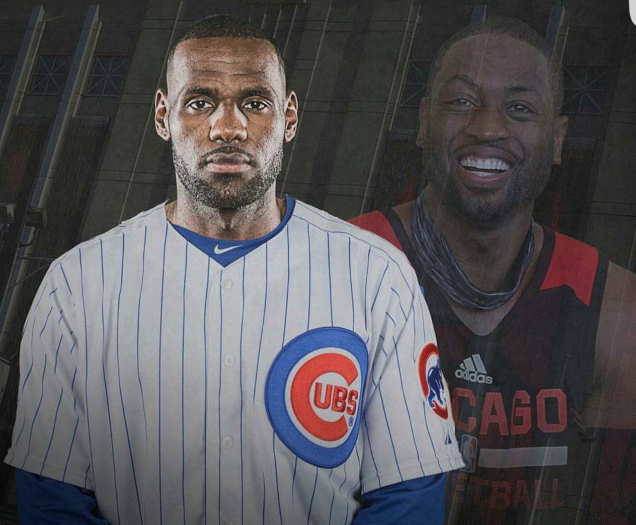 best website 58dbf b1f25 Dwyane Wade, ESPN give preview of LeBron James in Cubs ...