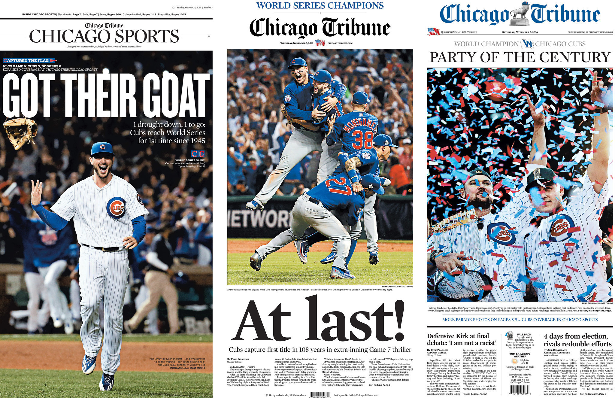 dd97ddfb7 Witnessing Chicago history with the Cubs - Chicago Tribune