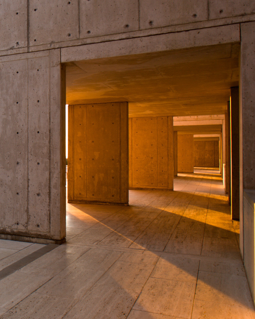 The Salk buildings are offer masterful plays on light, drawing sunshine to even the deepest corners.