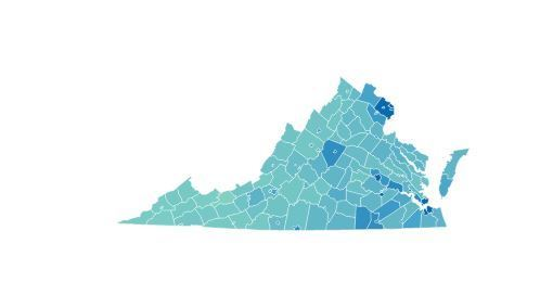 Interactive Map Of Virginia.Interactive Maps How Virginia S Counties And Cities Voted In The