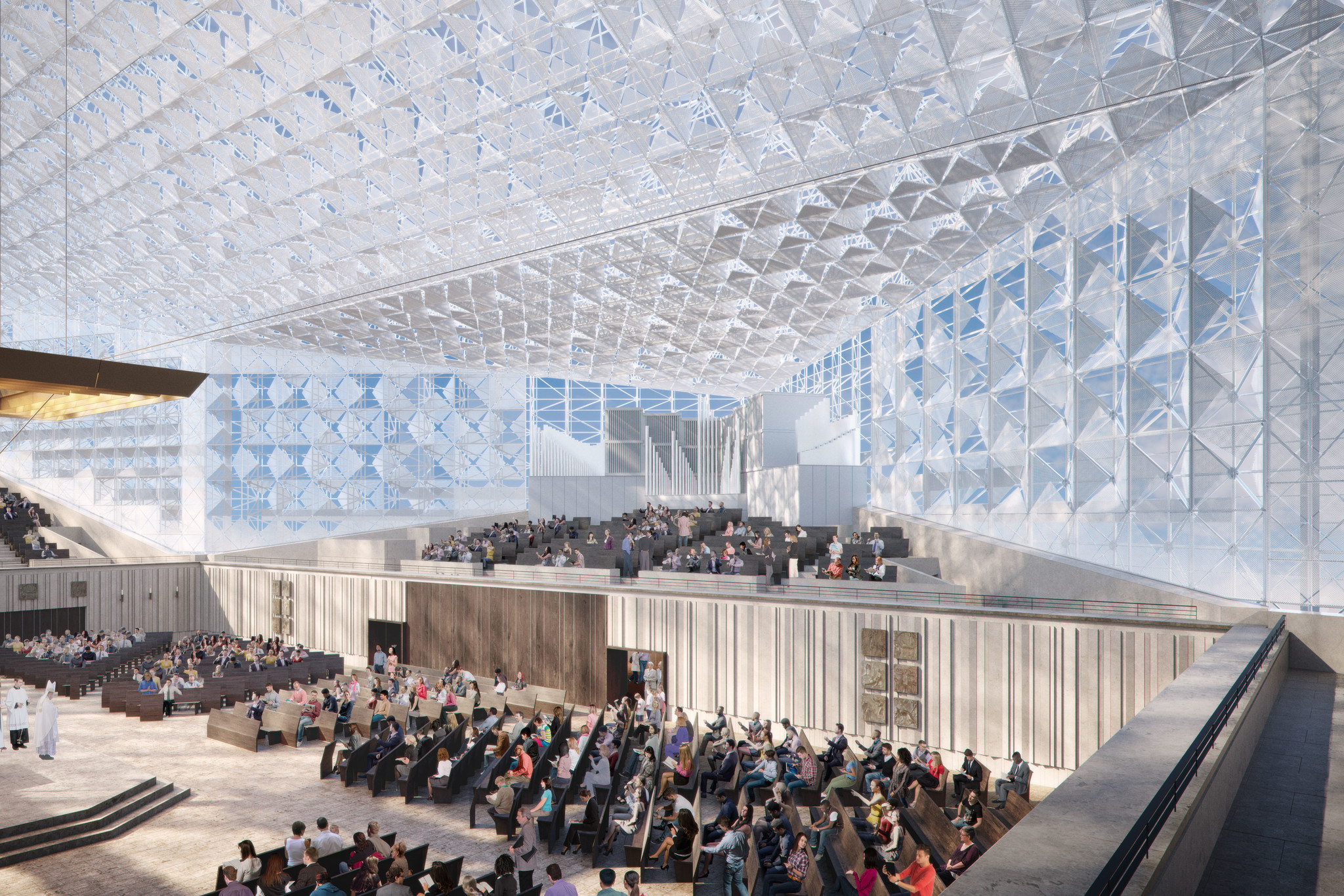 Another view of the Christ Cathedral design proposal by Johnson Fain.