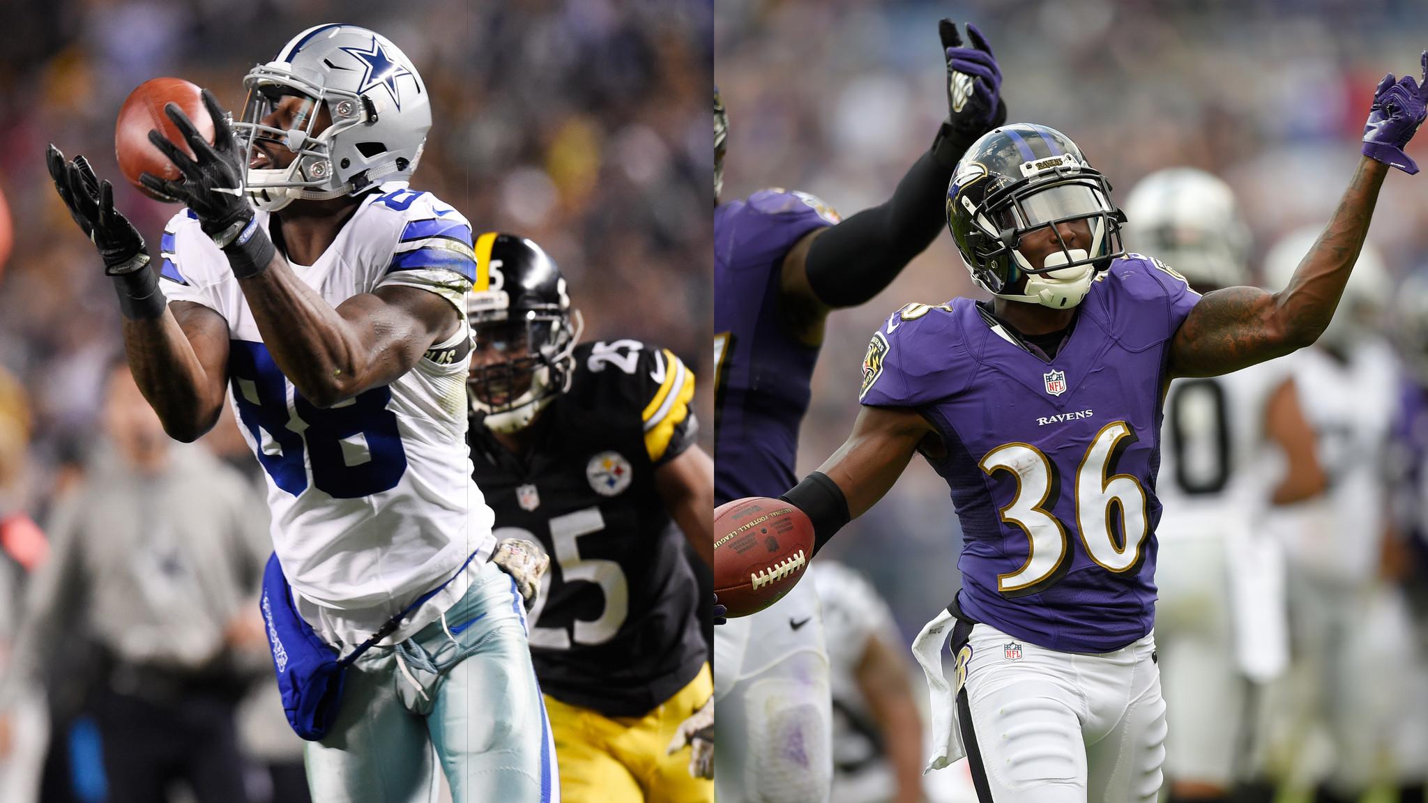 Cowboys Wr Dez Bryant Vs Ravens Cb Tavon Young Baltimore Sun