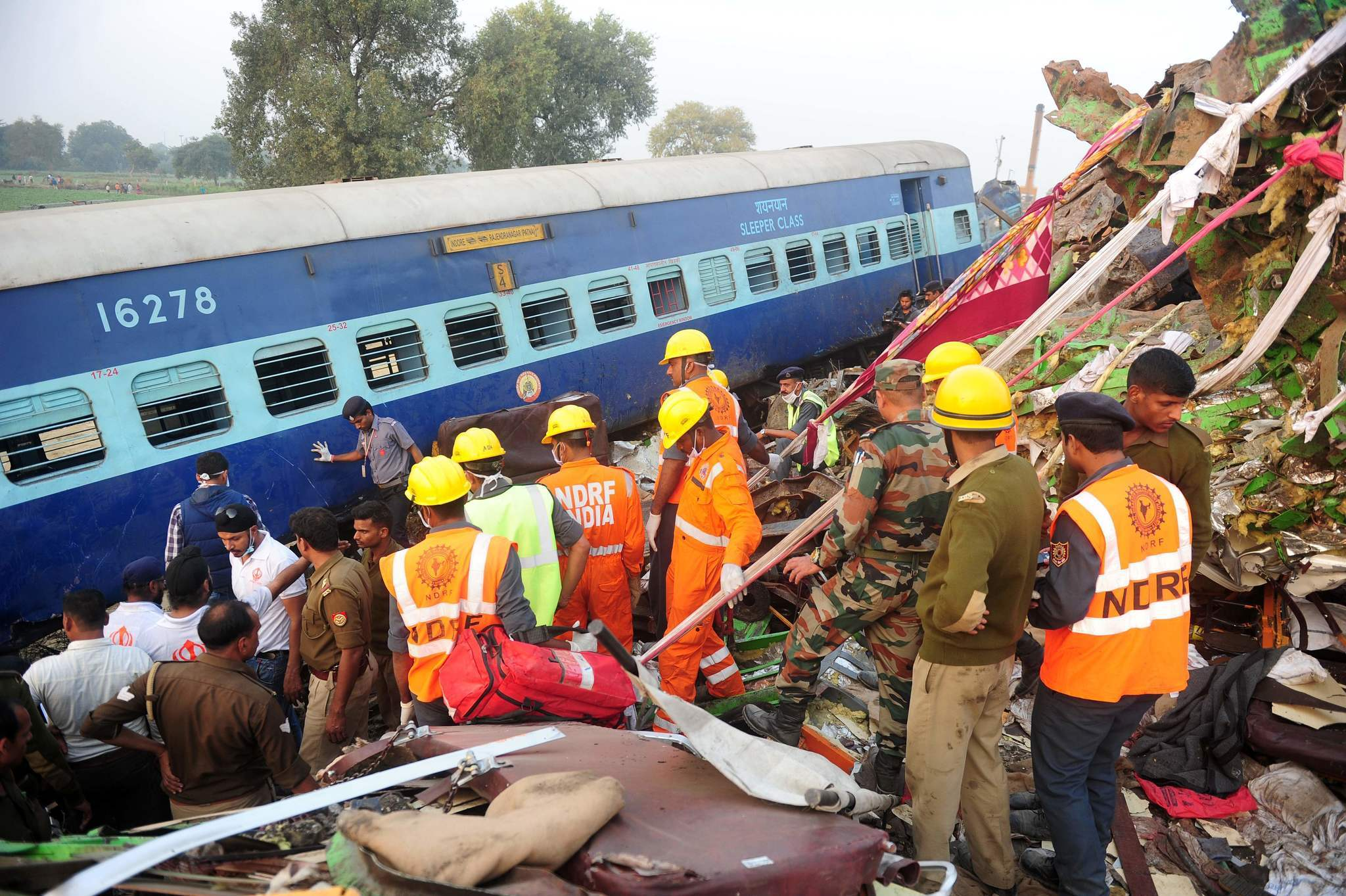 Rescuers finish search of Indian train wreck, at least 133 ...  Indian Railway Accidents