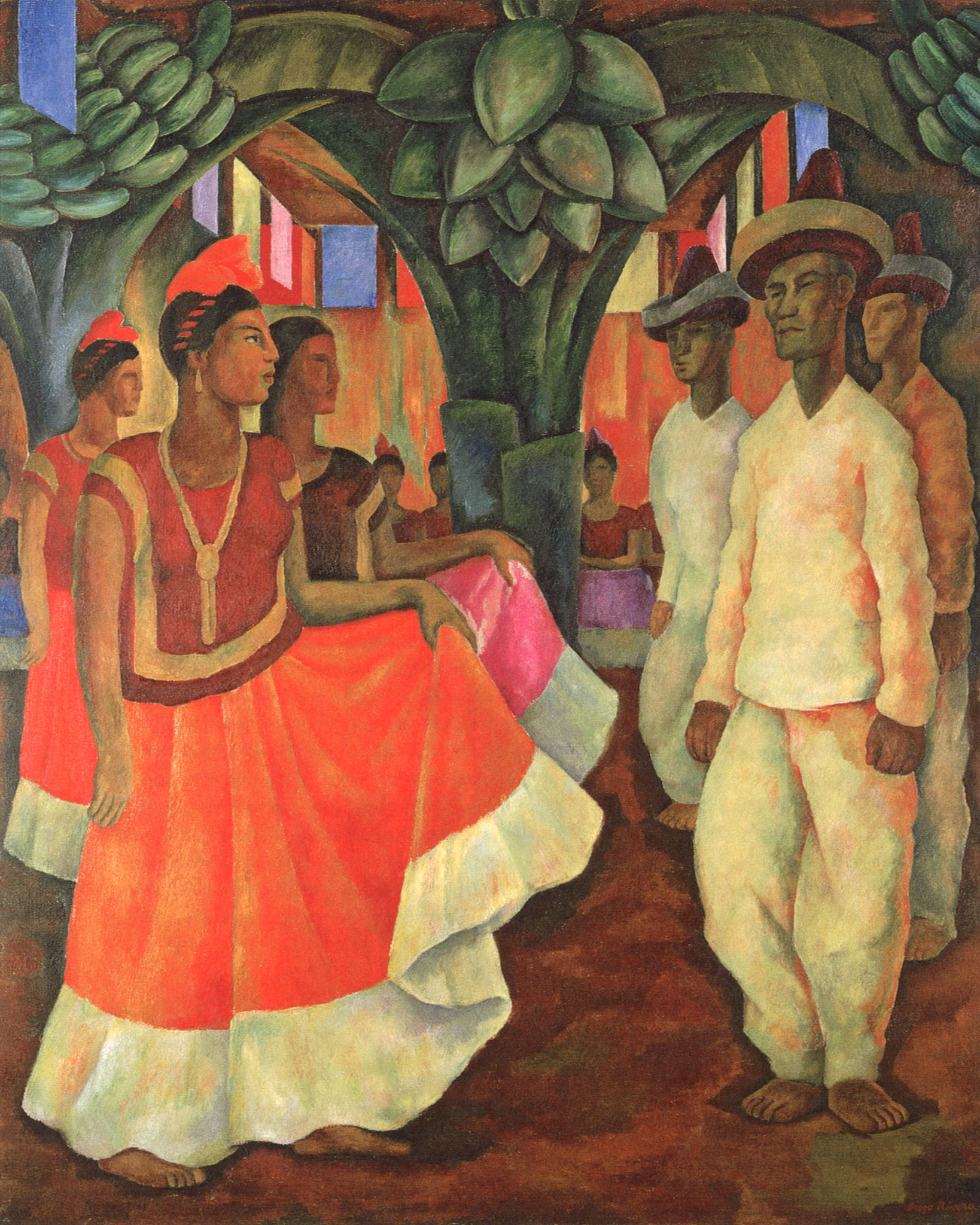 "Diego Rivera, ""Dance in Tehuantepec,"" 1928."