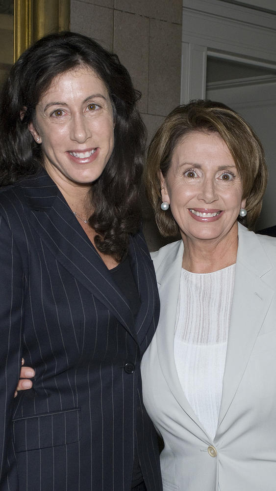 Christine Pelosi and her mother, Nancy Pelosi.
