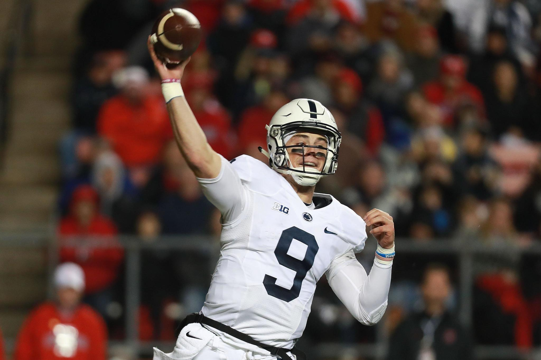 Big Valley Ford >> Trace McSorley, Penn State's big-game quarterback, braces ...