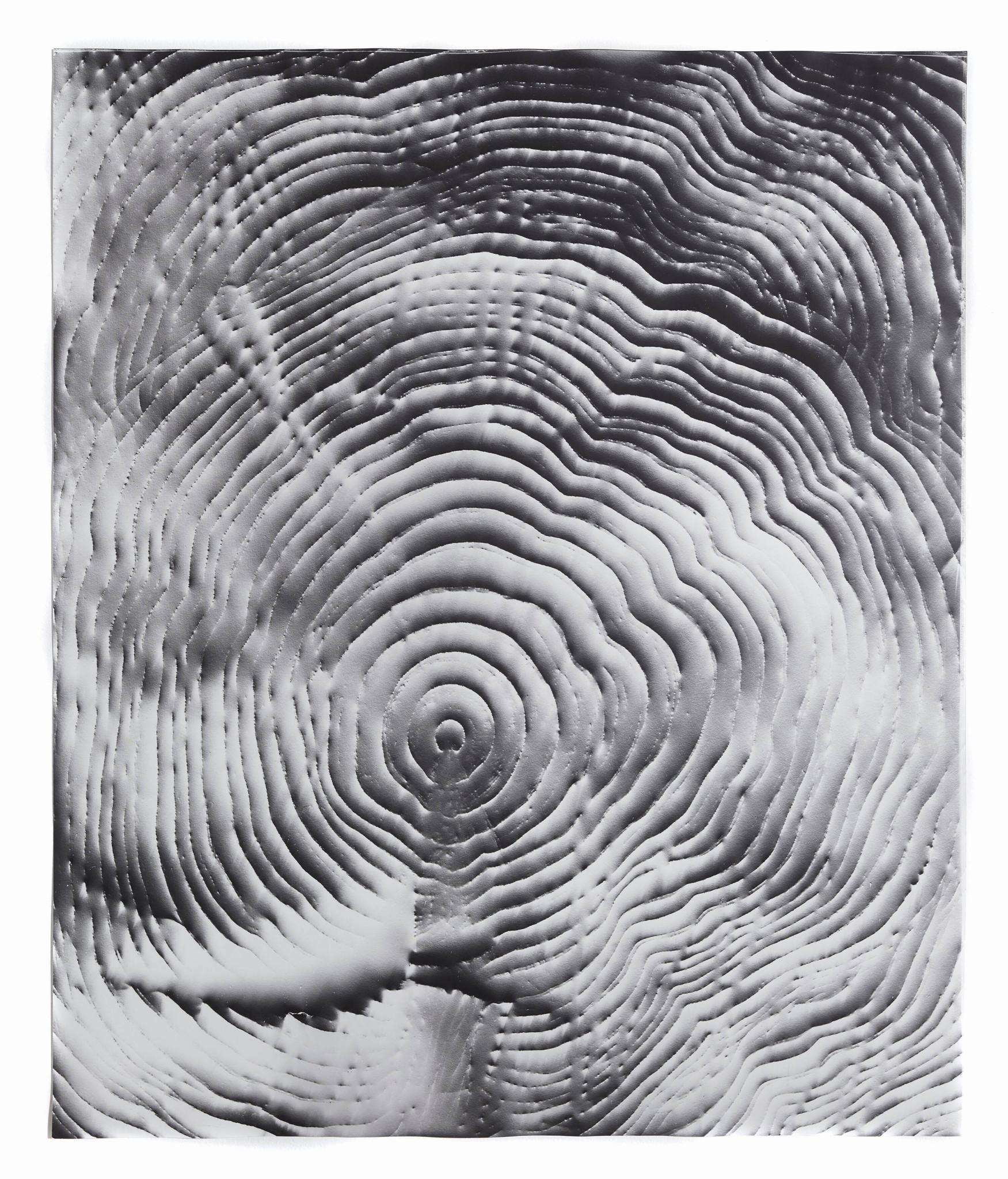 """Automatic Earth #13,"" 2016, photographic rubbing, unique gelatin silver photogram."