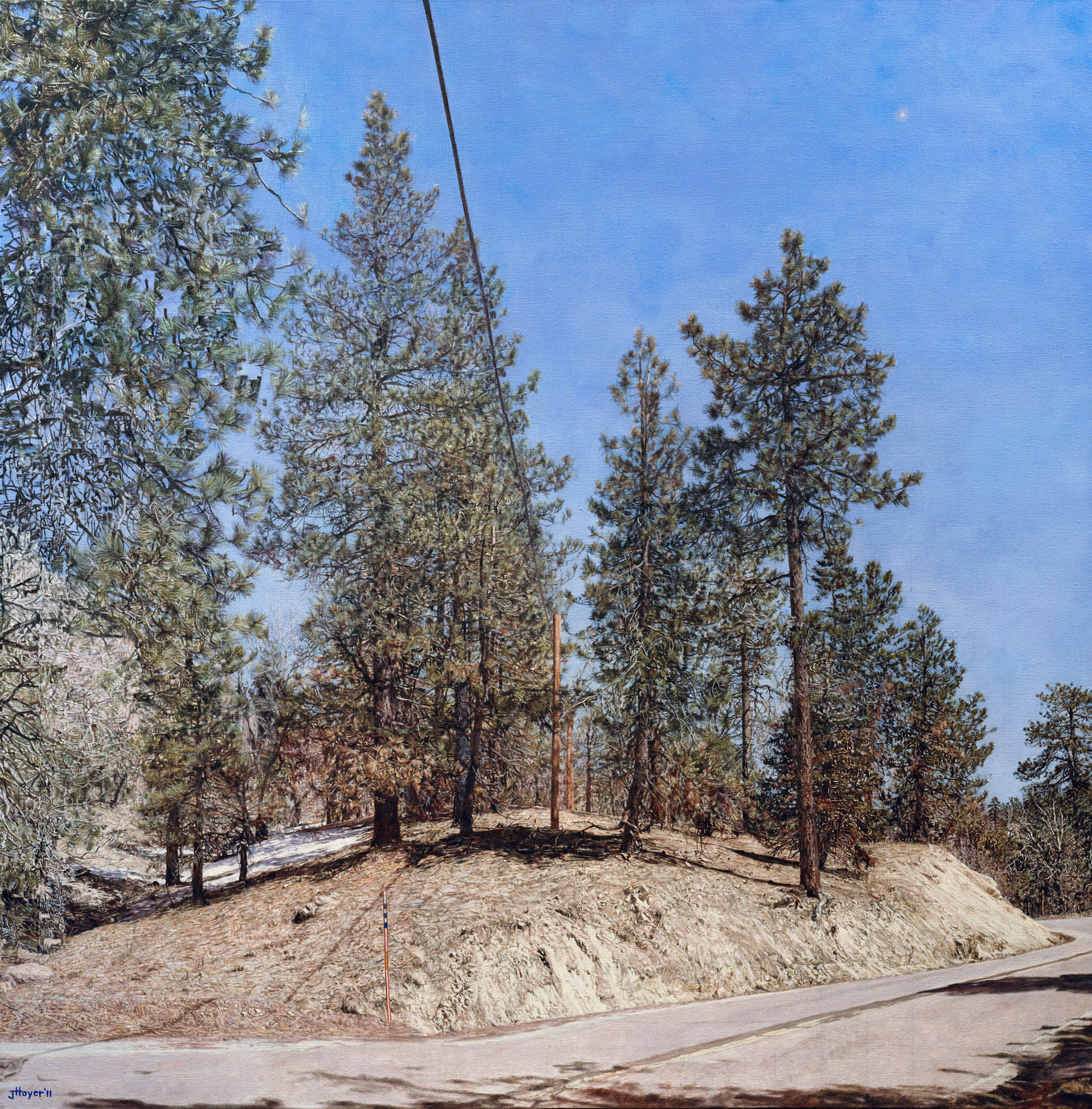 """Big Bear Land Slab,"" 2011, oil on linen."