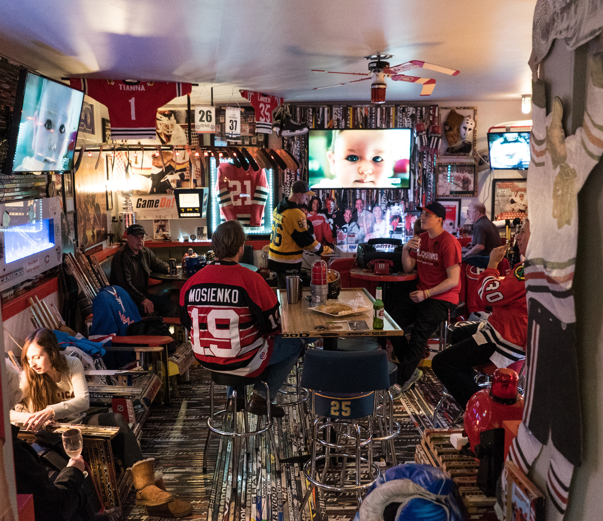 Inside A Blackhawks Fan S Astonishing Fan Cave In Canada