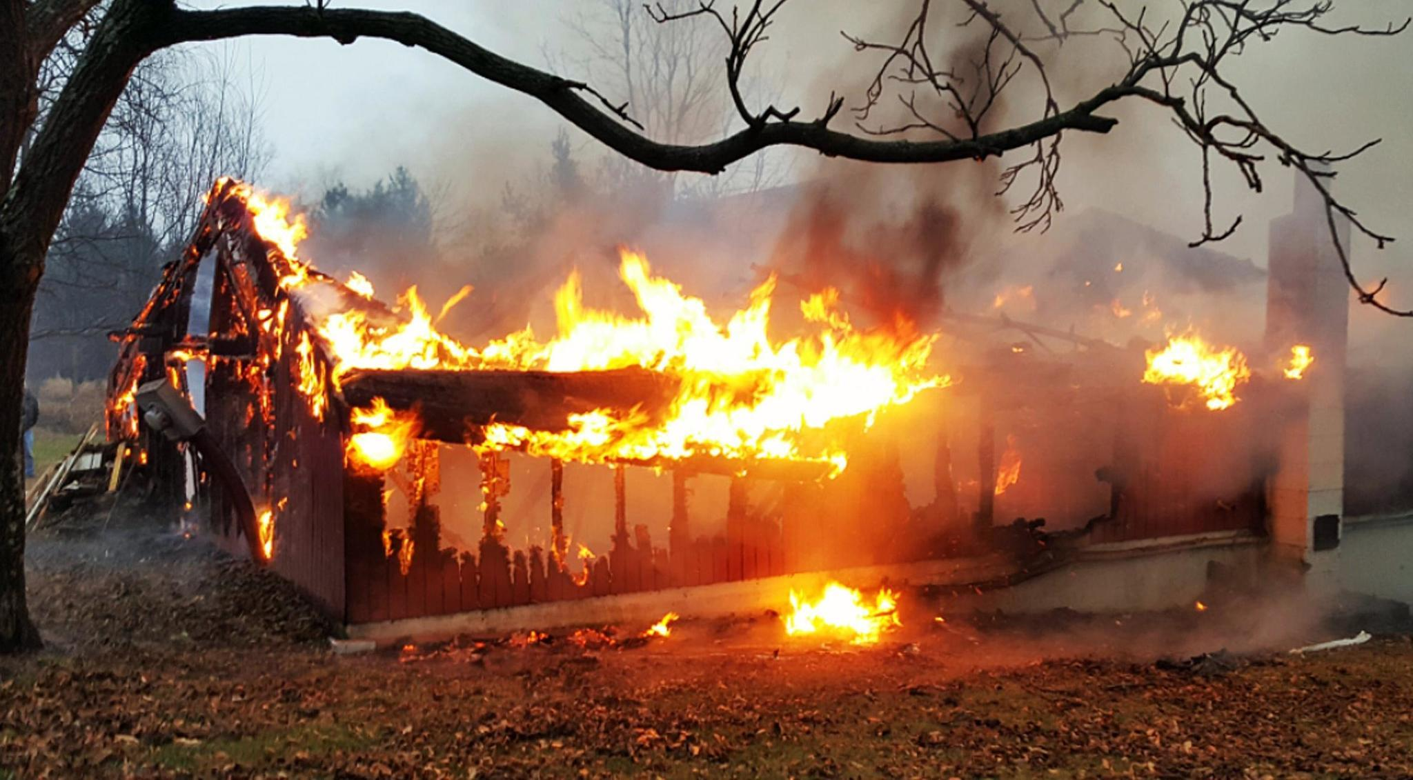 Fire Destroys Woodworking Shop Near Mauch Chunk Lake The