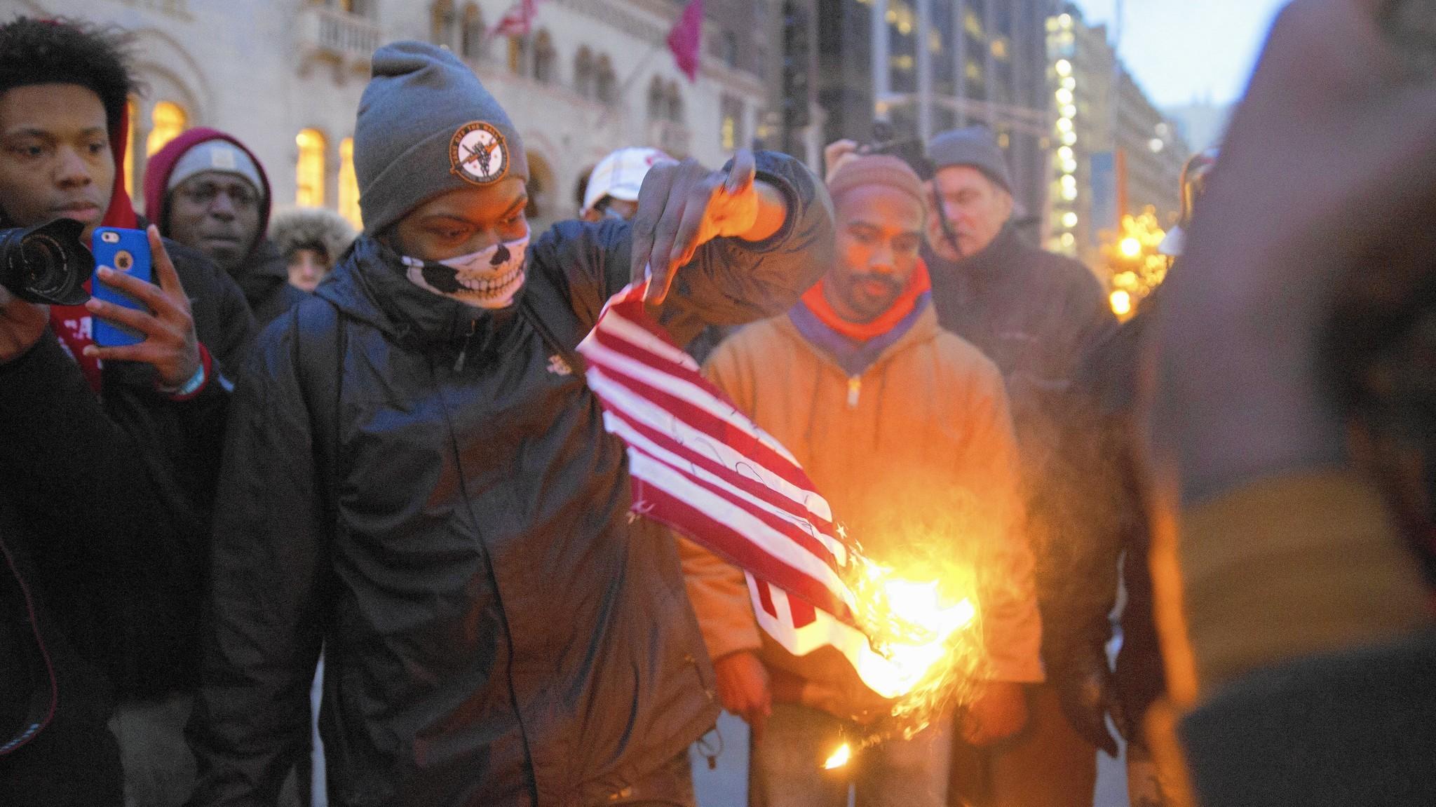 Trump Tweet Suggests Criminalizing Flag Desecration