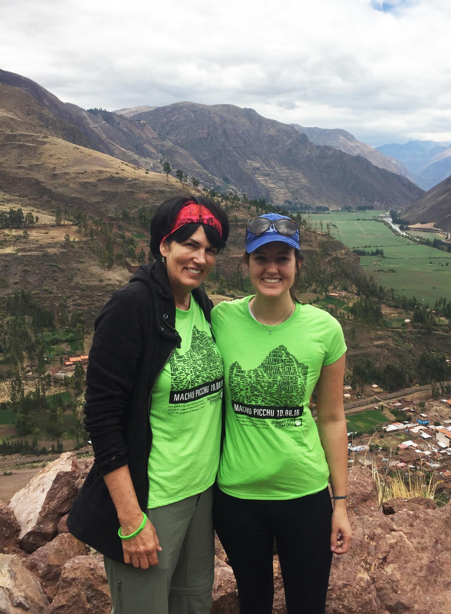 Elena and Tess Andrews, hiking the trail to Machu Picchu in Peru.