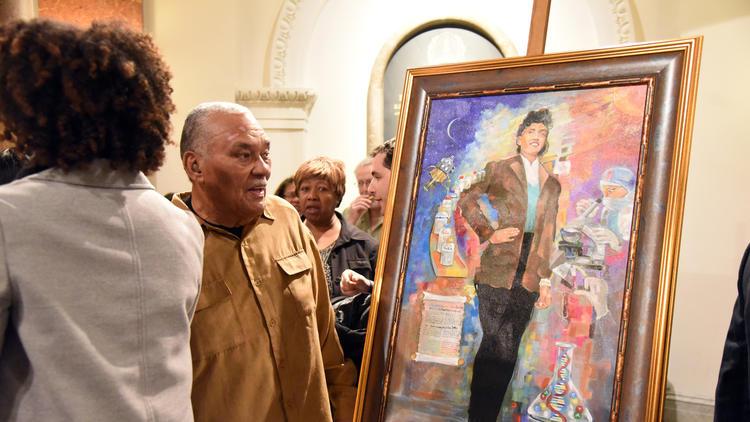 Henrietta Lacks portrait in Baltimore City Hall