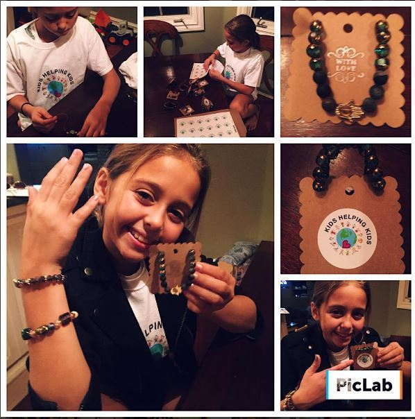 Leah Banuelos shows off her creations on Instagram @KidsHelpingKidz