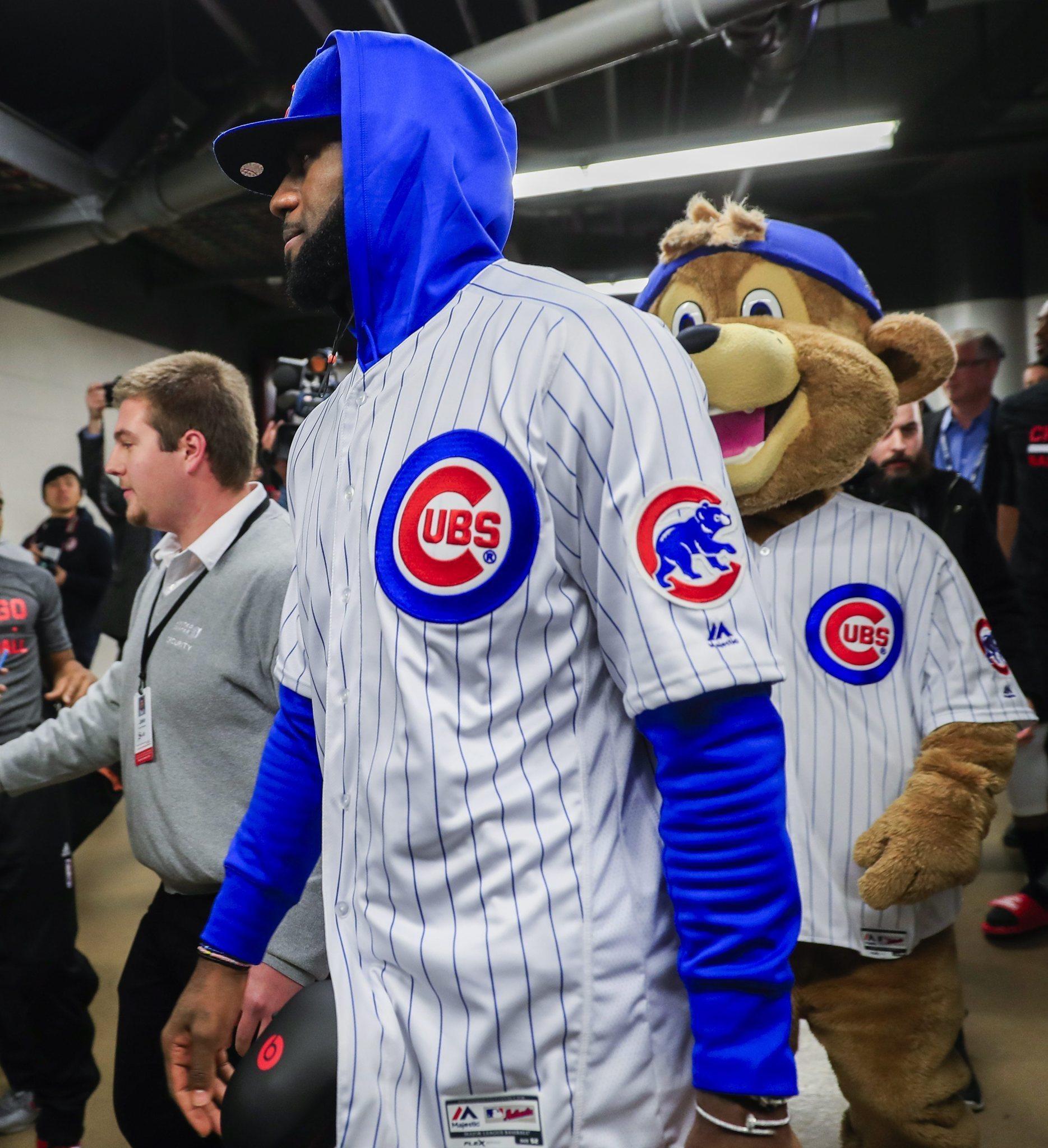 a88498c91 LeBron James arrives in a Cubs uniform - Chicago Tribune