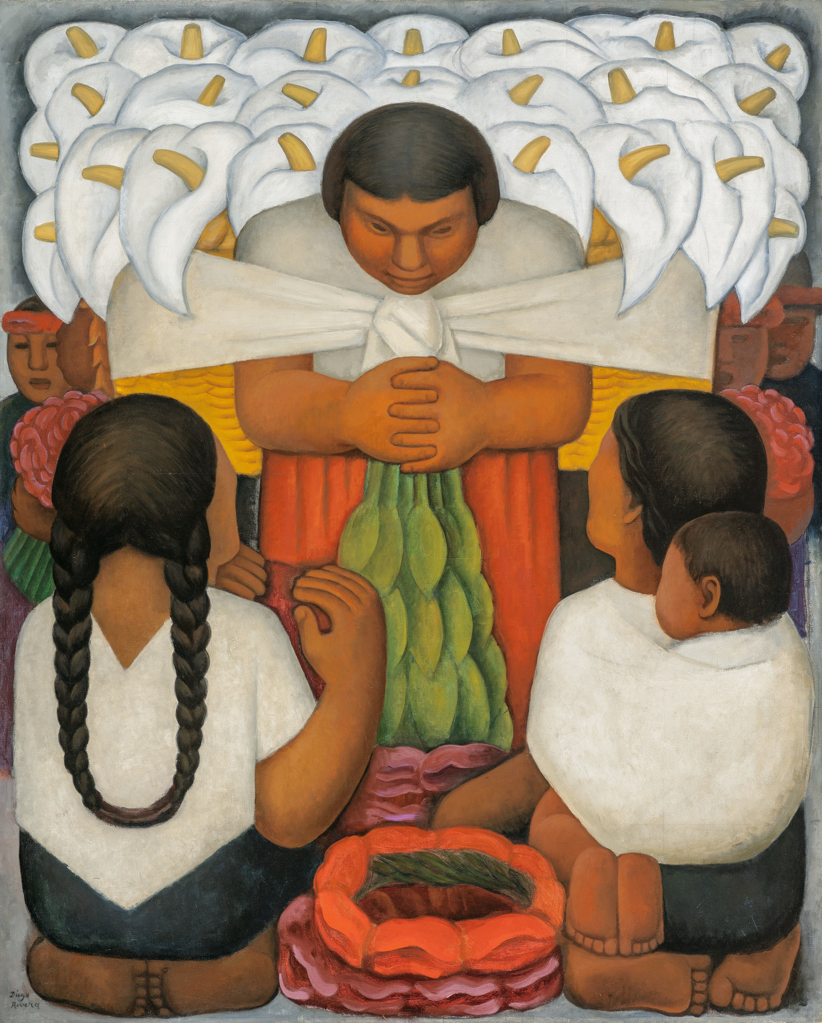 "Diego Rivera, ""Flower Day,"" 1925."