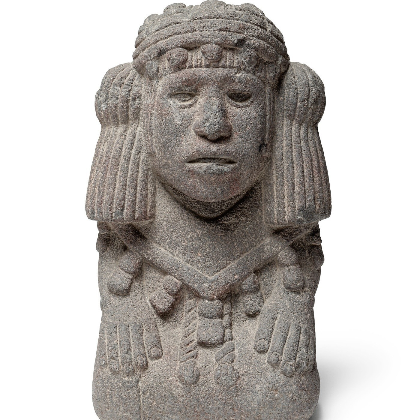 Water deity (Chalchiuhtlicue), Mexico, Aztec, 1200-1521 — part of an exhibition about Picasso and Rivera at LACMA.