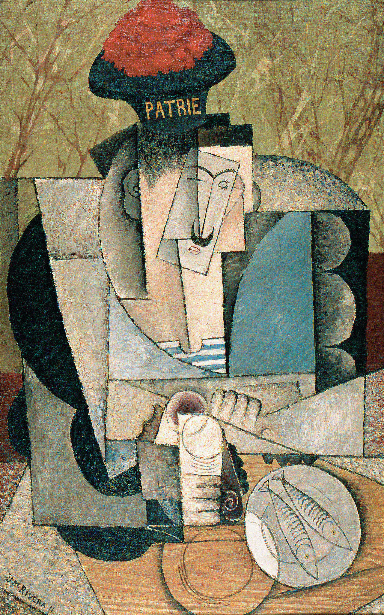 "Diego Rivera, ""Sailor at Lunch,"" 1914."