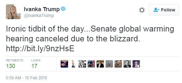 trump tweet global warming