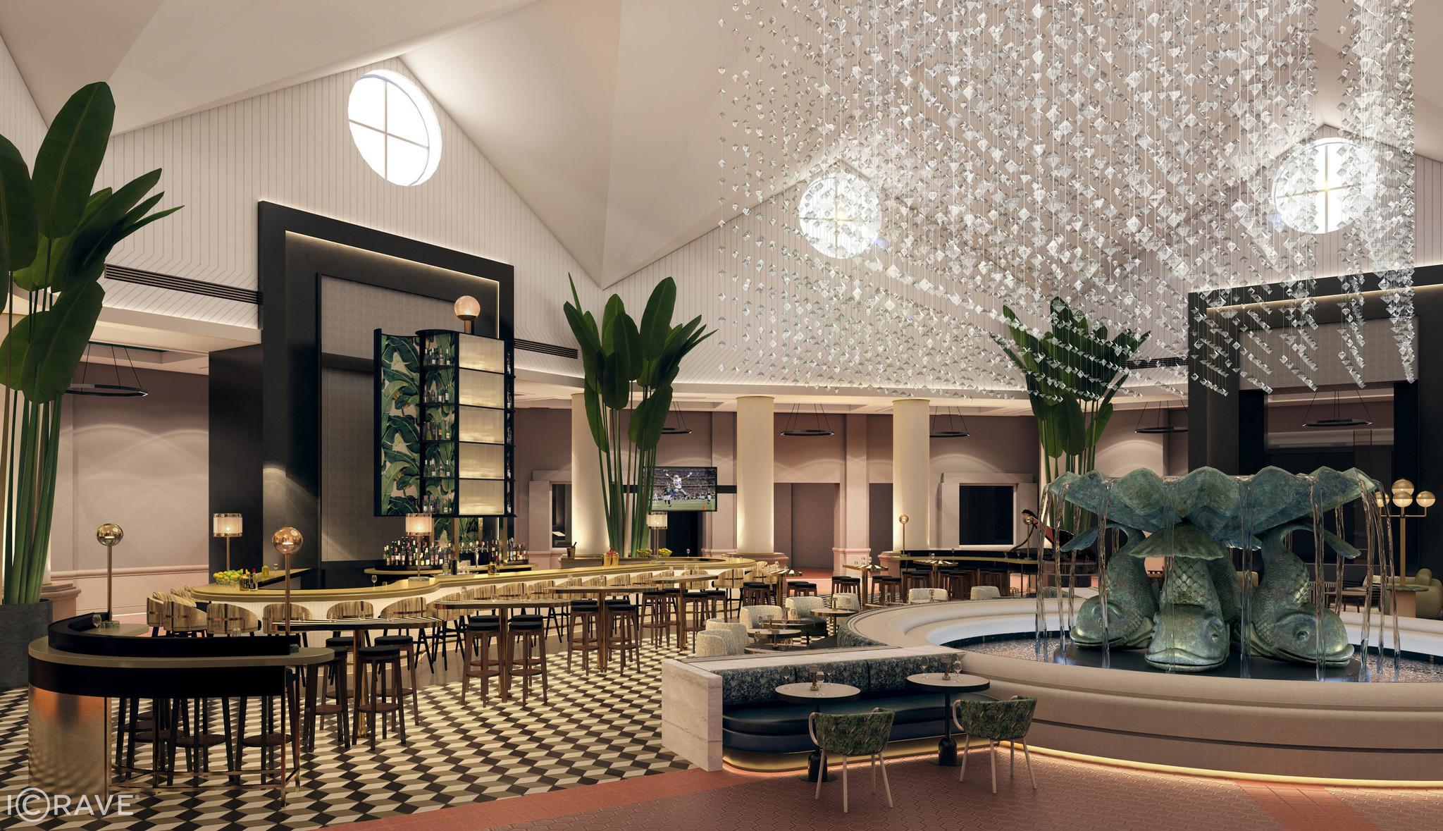 Walt Disney World Swan And Dolphin Plans Lobby Renovations Orlando