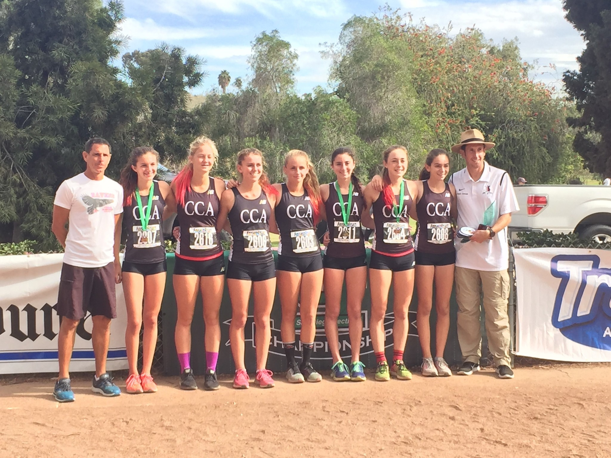The CCA girls cross country team finished second in the CIF San Diego Section and took ninth in the state.