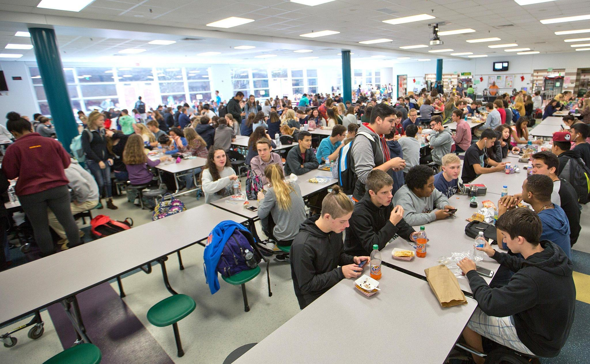 Expansion Jamestown High School Cafeteria - The Virginia ... Crowded High School Cafeteria