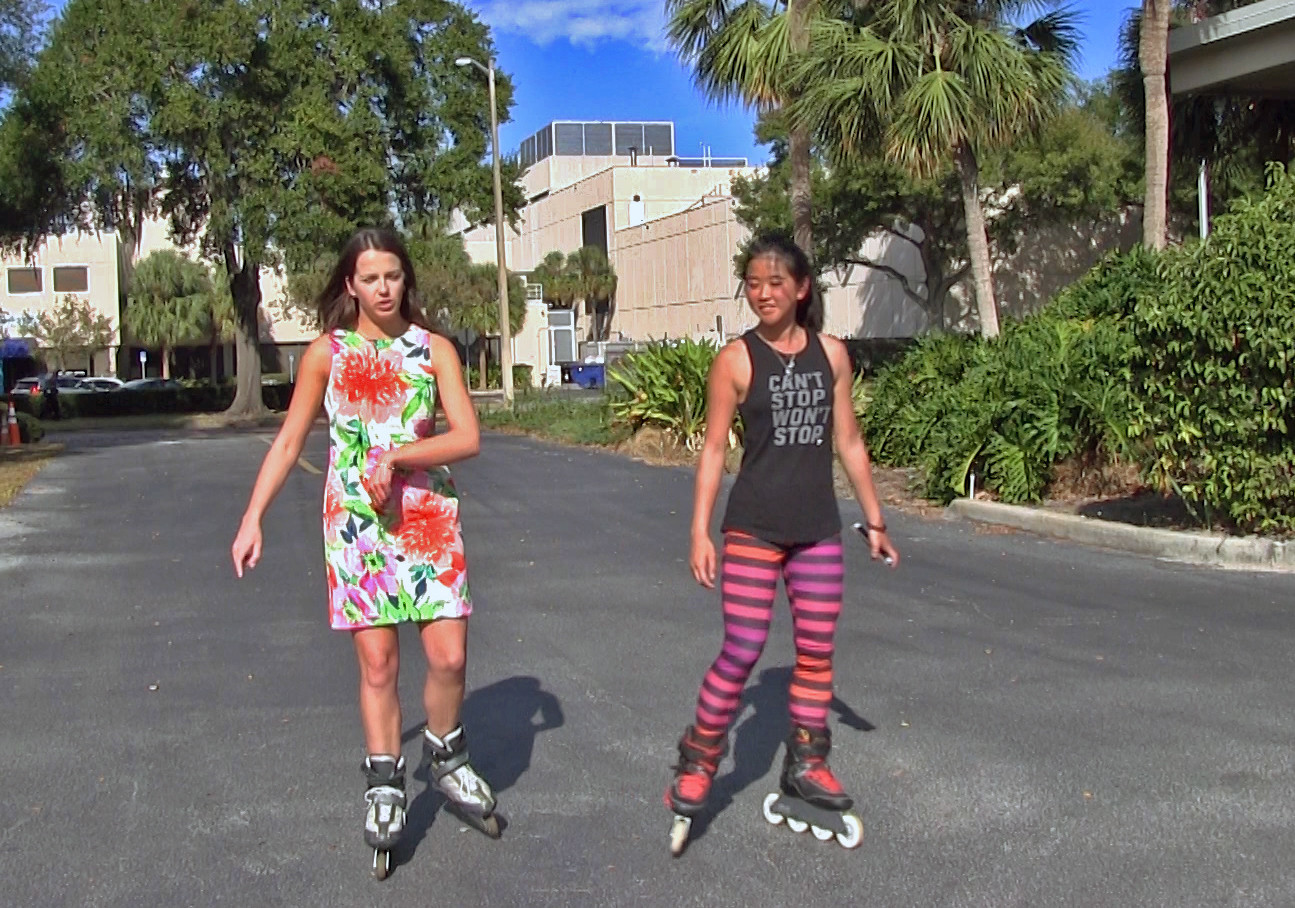 Woman on the roller skates - 2 9