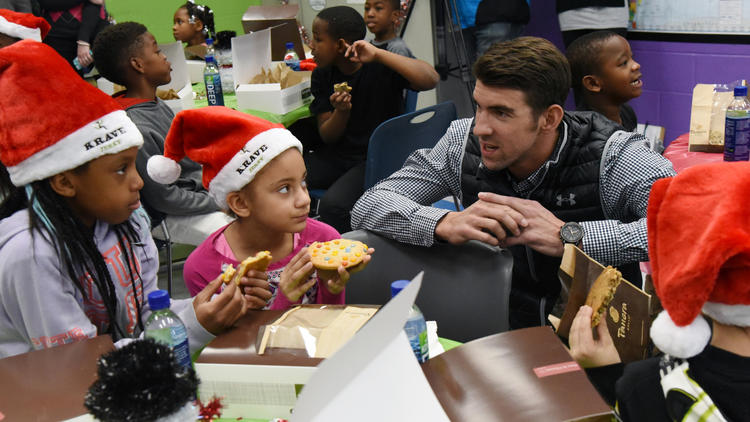 Michael Phelps makes surprise visit to Boys & Girls Clubs of Harford County