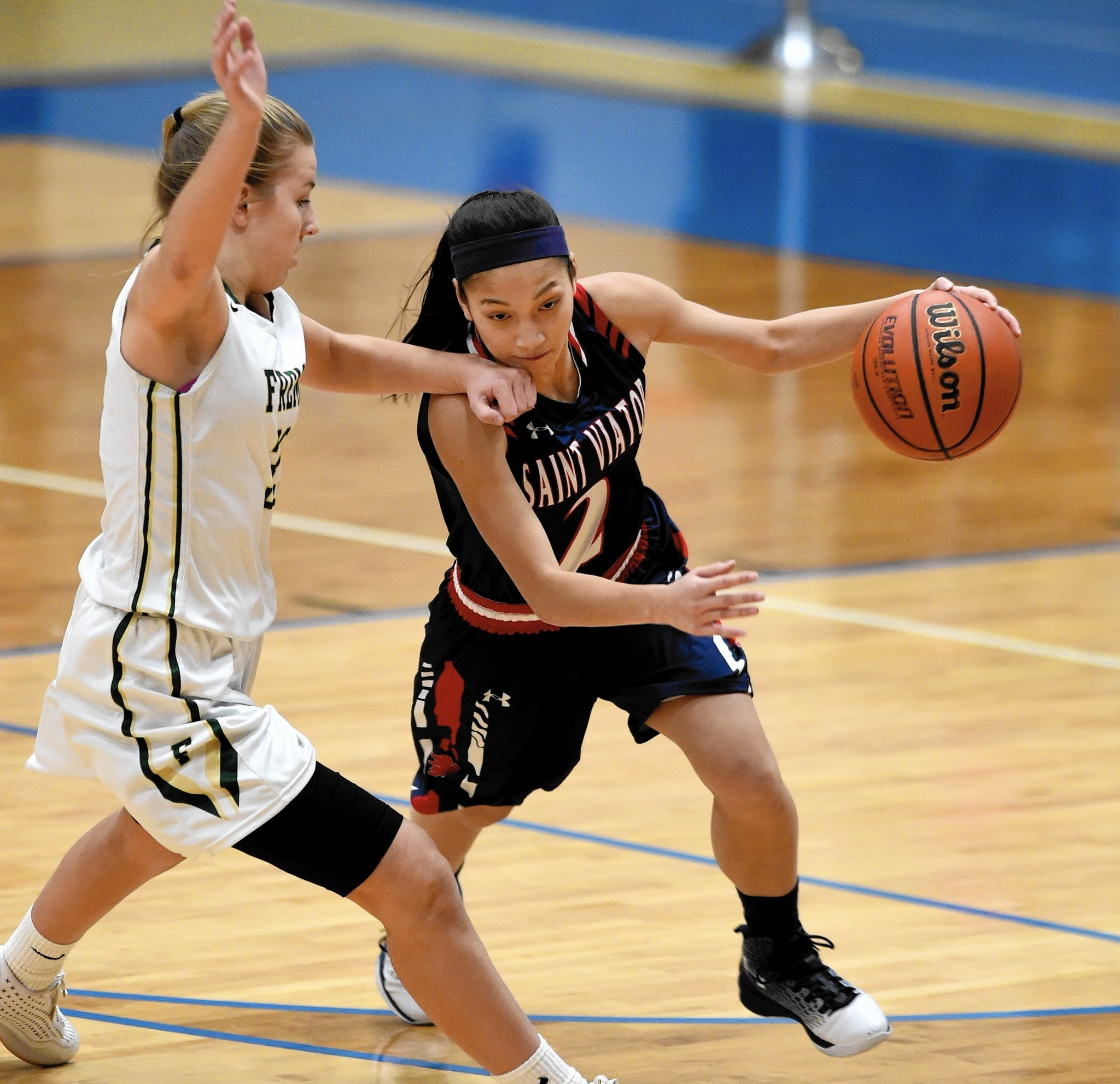 St. Viator point guard Olivia Solimene attempts to learn ...