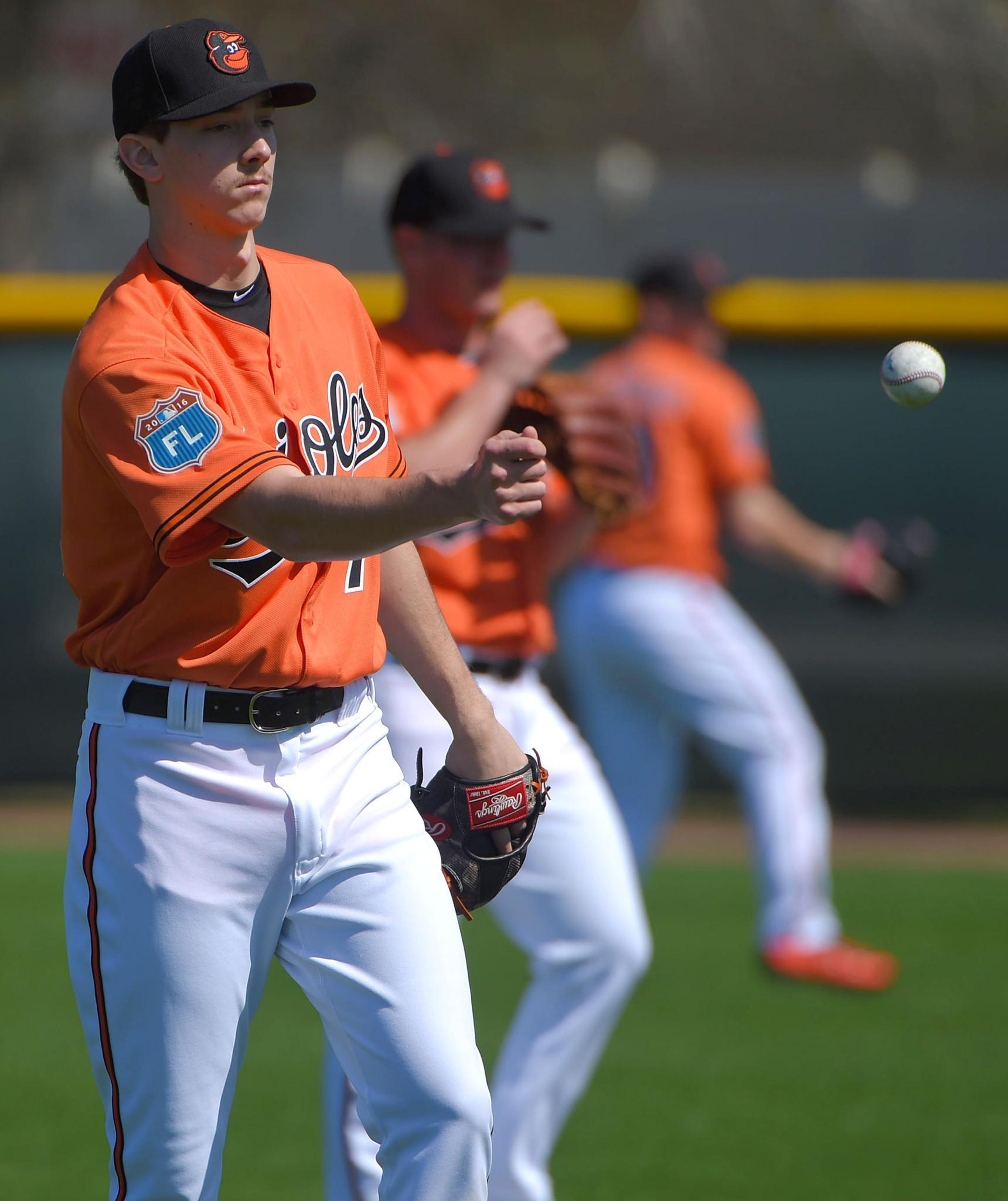 5b0fda0cd Orioles pitching prospect Hunter Harvey could resume throwing next week -  Baltimore Sun