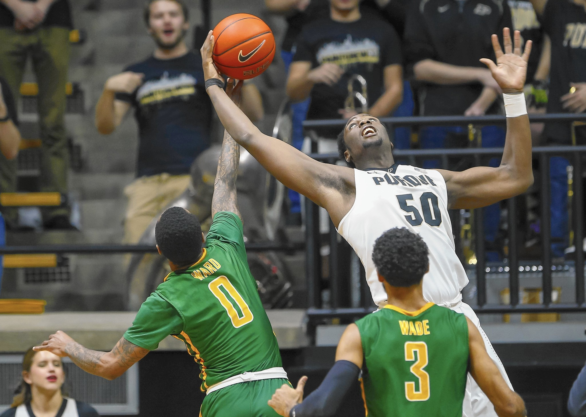 Caleb Swanigan continues to rule boards as Purdue rolls by ...