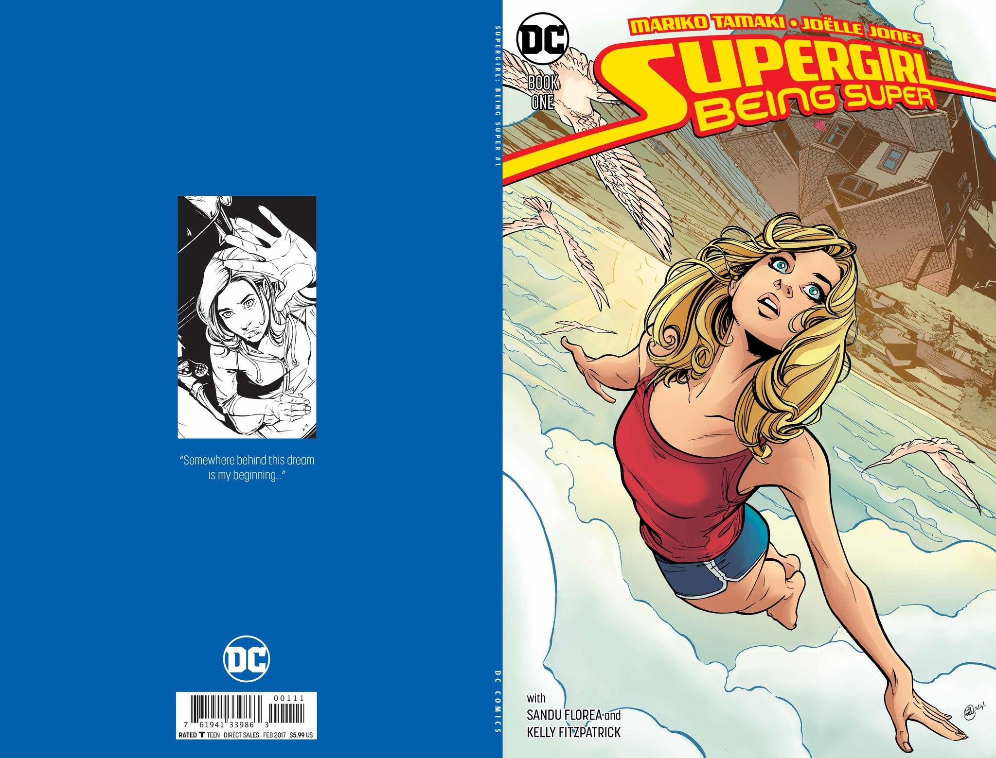 "The cover of ""Supergirl: Being Super."""