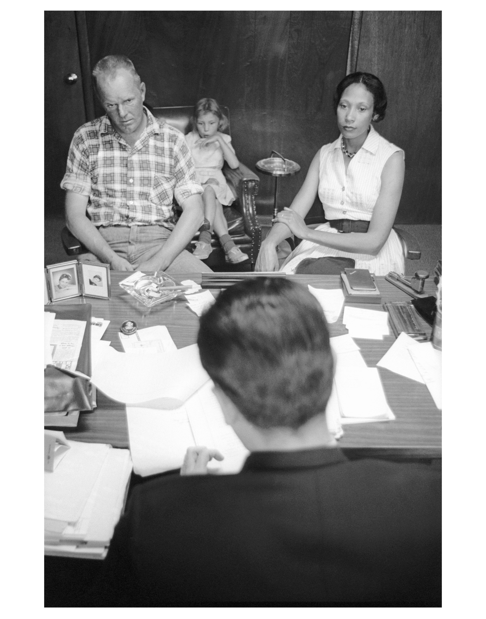 Richard and Mildred Loving with their attorney, Bernard Cohen.