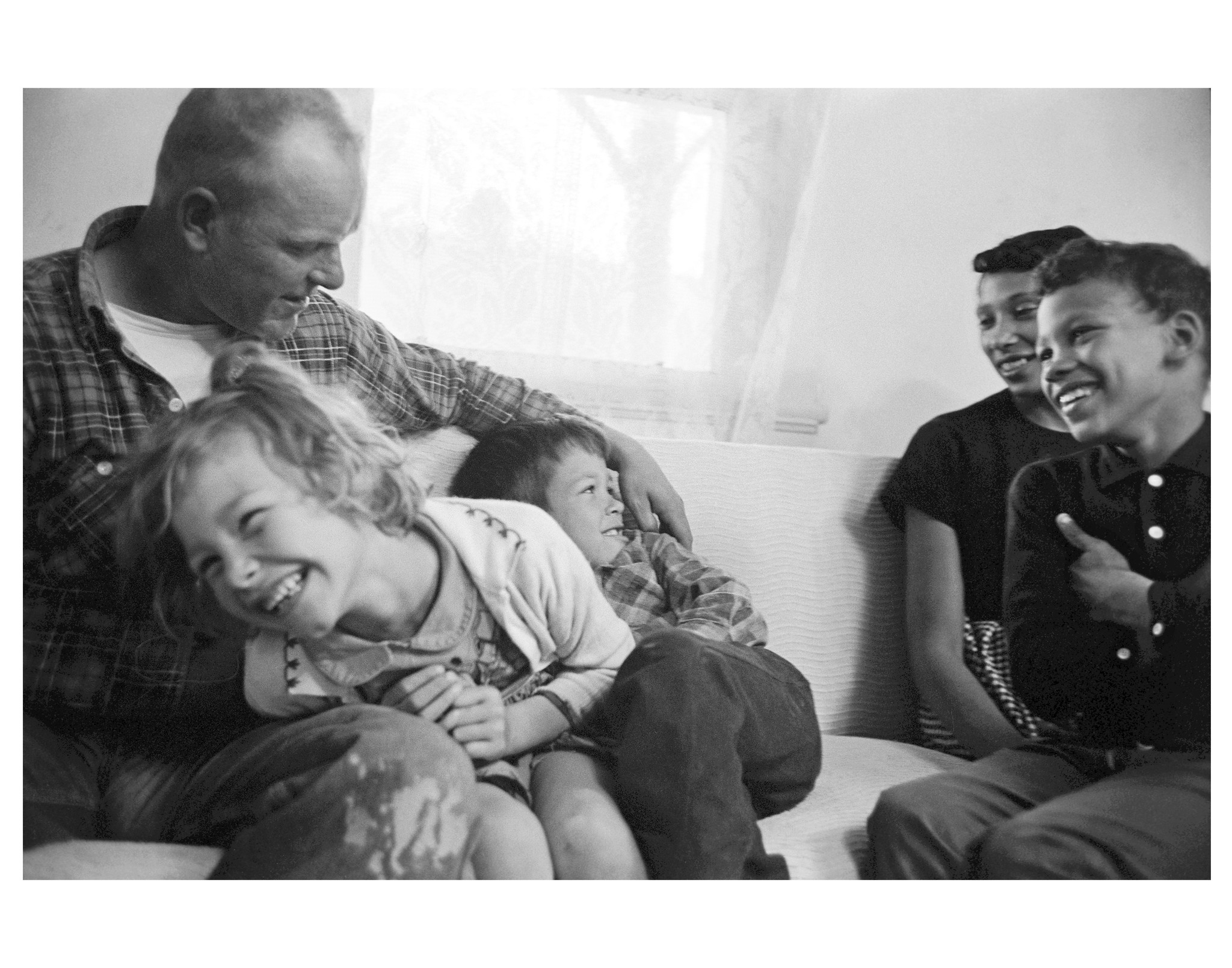 The Lovings with their children at home in King and Queen County, Virginia, in 1965.