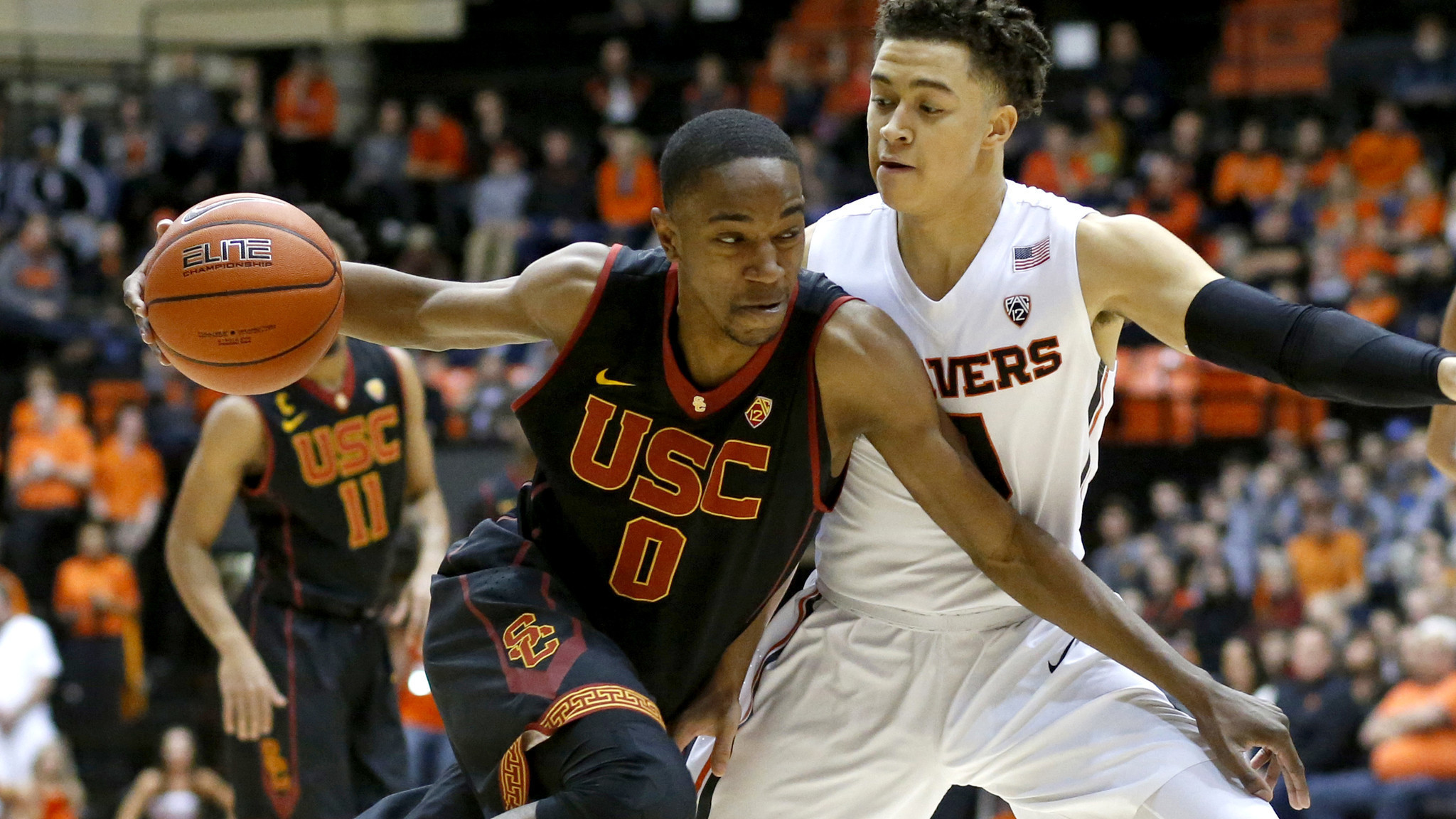ae3cf6bf149 22 USC stayed undefeated with a 70-63 victory over Oregon State on  Wednesday night in the Pac-12 opener for both teams. Jordan McLaughlin  contributed 10 ...