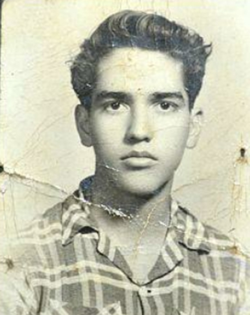 Rafael Becerra as a teenager in Zapotlan del Rey, Mexico.