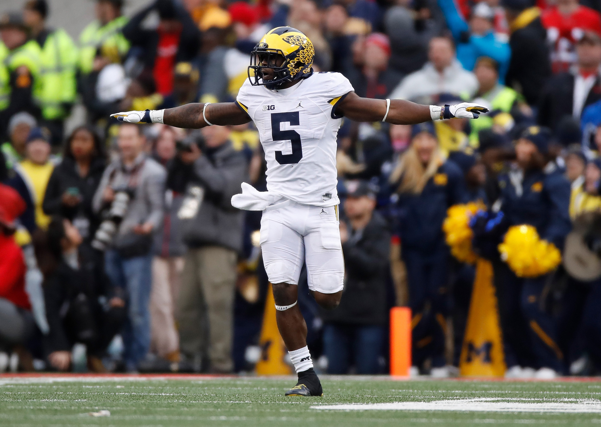 4ee586194 ... Michigan star Jabrill Peppers misses Orange Bowl with hamstring injury  - Sun Sentinel ...