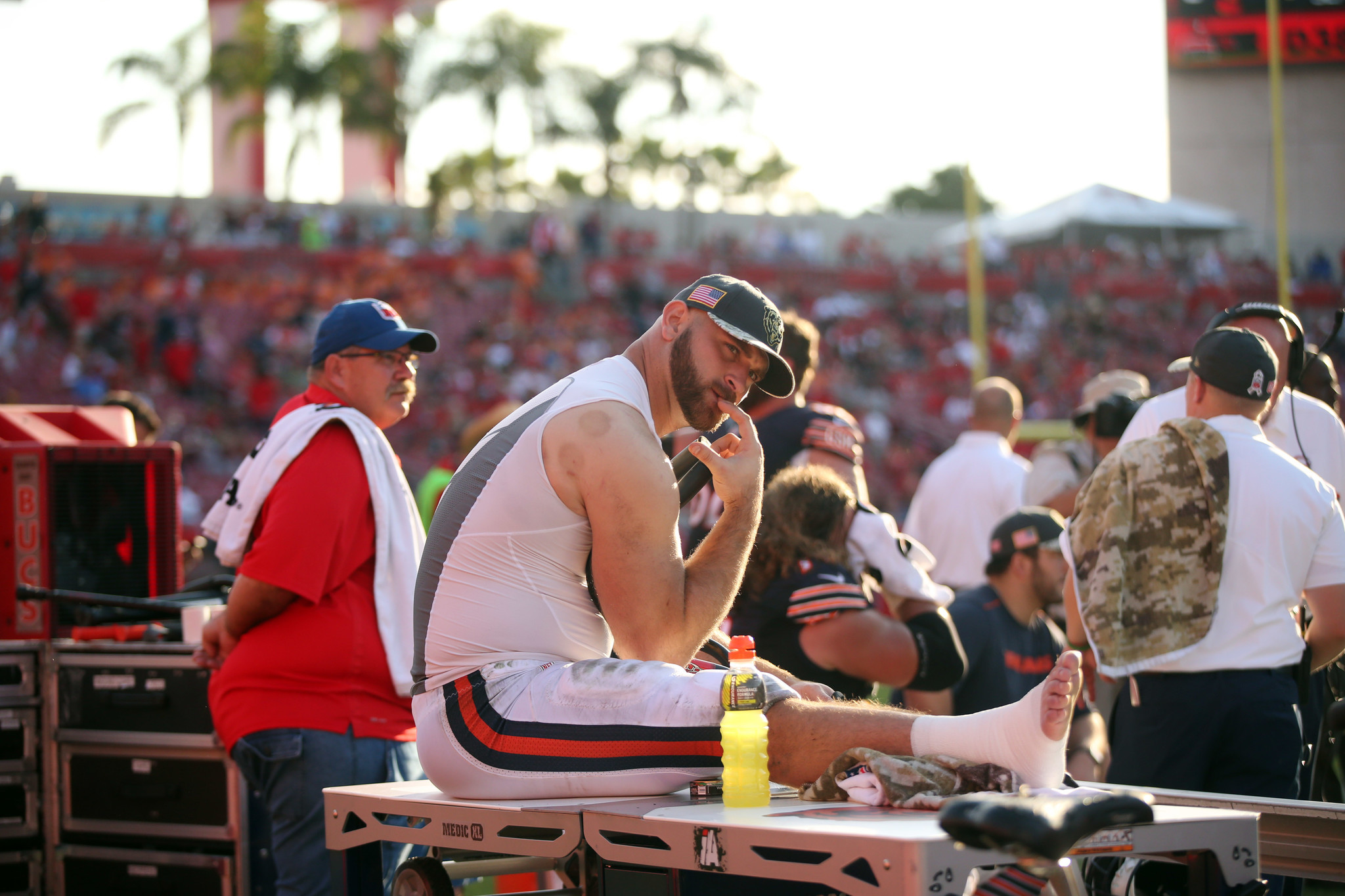 Ct Pick 3 >> Kyle Long's playoff dream fueling him through ankle ...