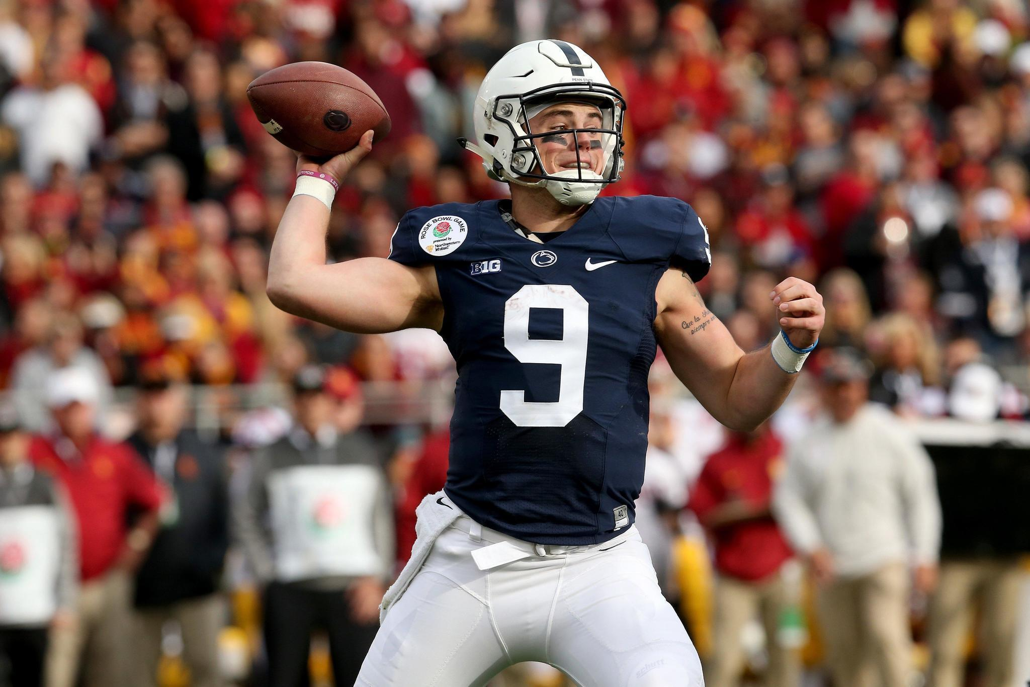 best sneakers 797a8 fdd21 Penn State quarterback Trace McSorley went 'off the ...