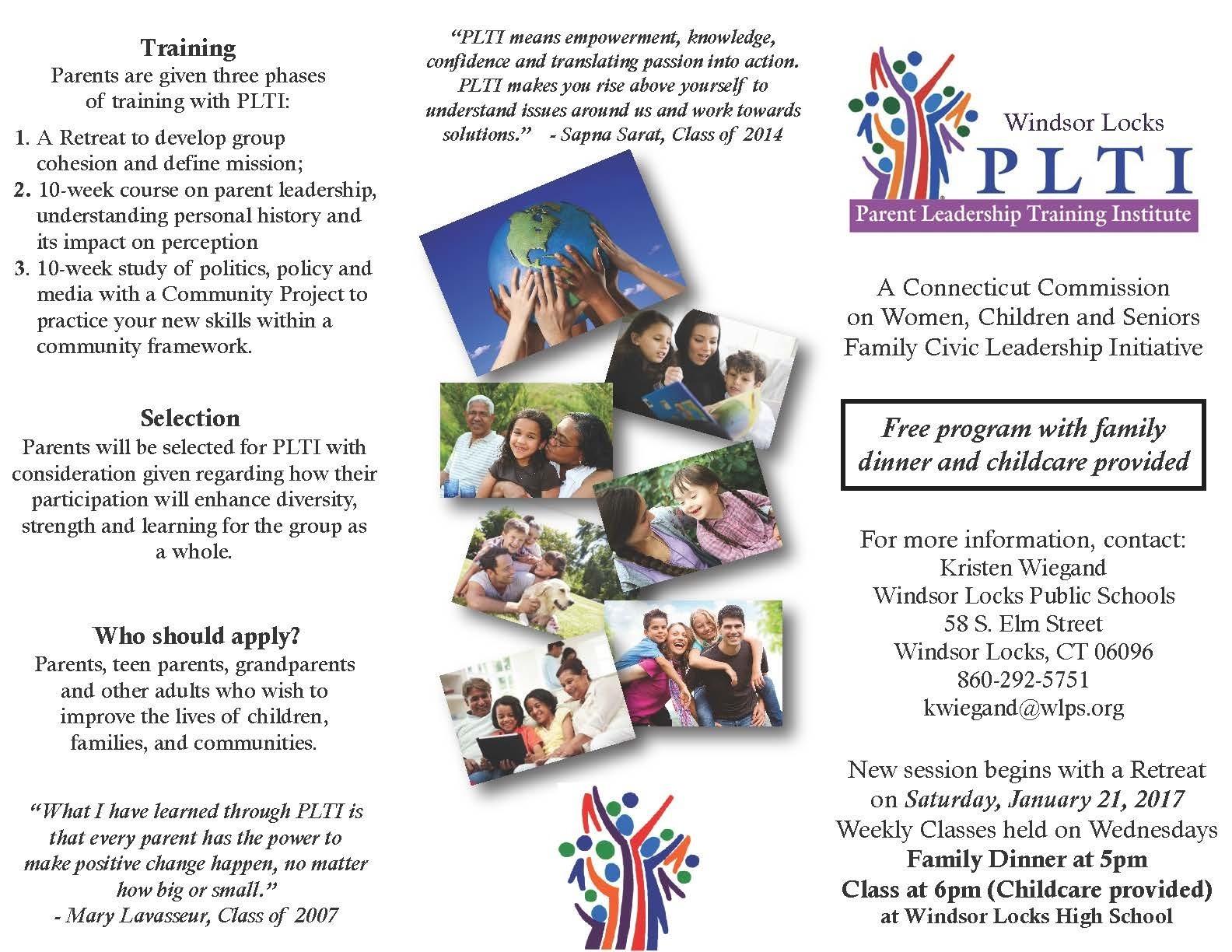 Windsor Locks Public Schools offers PLTI - Parent ...