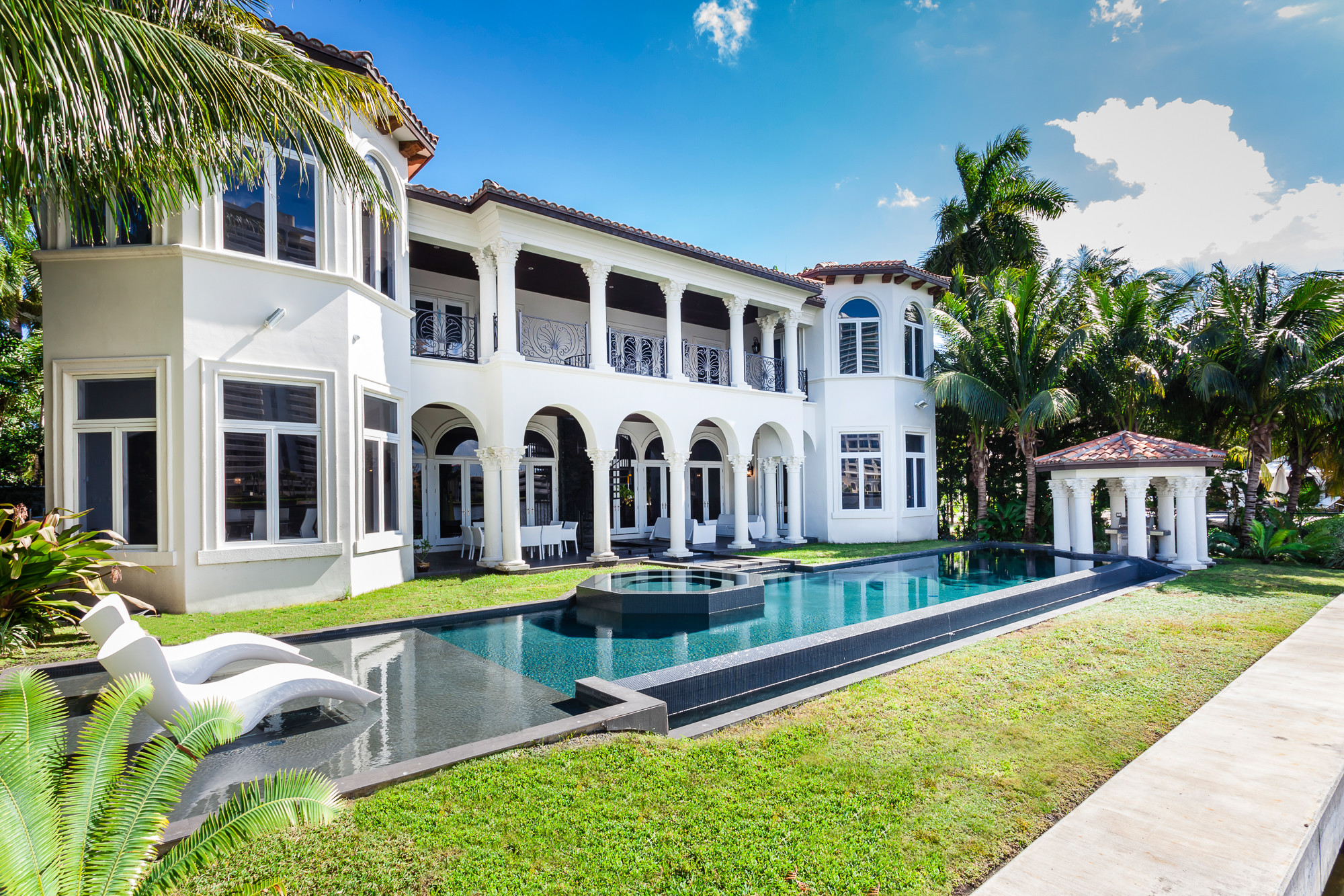 Water Fountain For Home Decor Waterfront Mansion In Golden Beach Listed For 14 95m