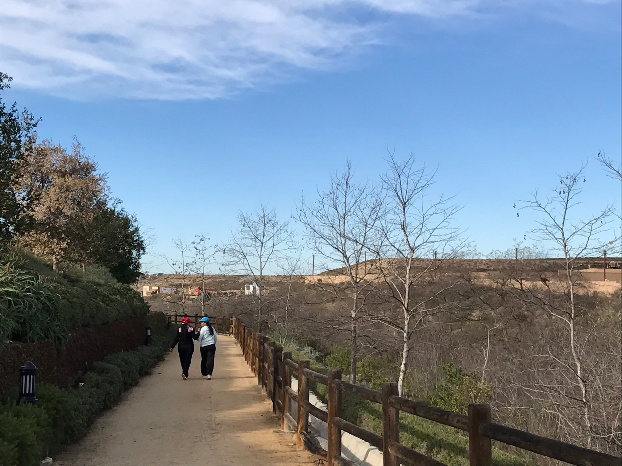 Walkers enjoy the Urban Amenity Trail in Pacific Highlands Ranch.